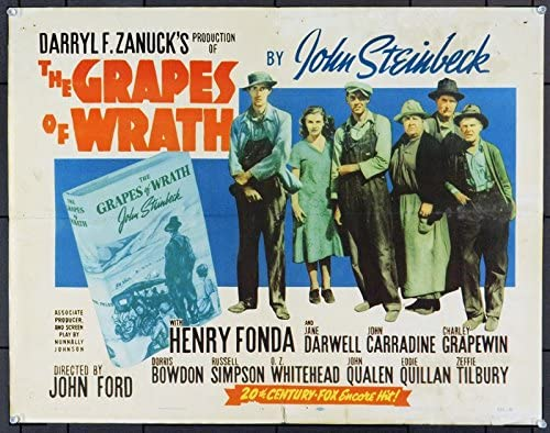The Grapes Of Wrath (1940) Original Movie Poster at Amazon's Entertainment  Collectibles Store
