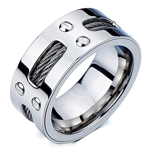 anelli da uomo in acciaio