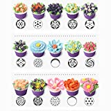 IDEYAL Russian Nozzles 46 Piece Set, Stainless Steel Frosting Tips Plus Disposable Piping Bags and Tri Color Coupler