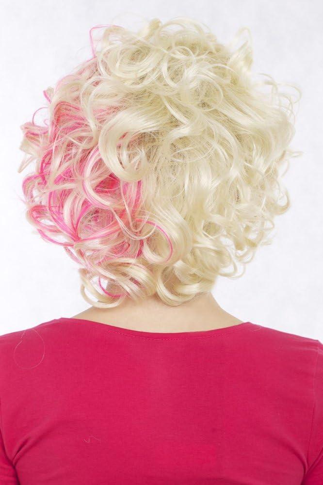 WIG ME UP- Peluca Wig pelo corto y rizado, rubio y rosa ...
