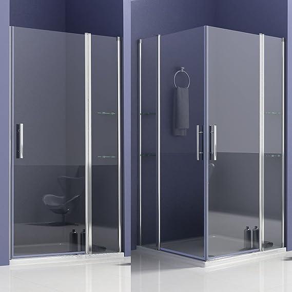 Cabina de ducha mamparas baño con estante de vidrio 80x80x195cm de ...