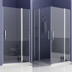 Cabina de ducha mamparas baño con estante de vidrio 80x80x195cm de Aica: Amazon.es: Bricolaje y herramientas