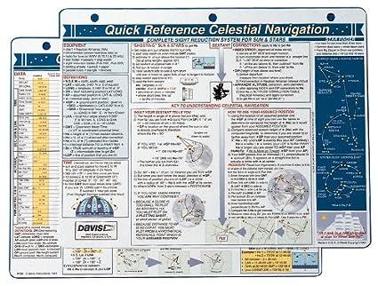 Davis Instruments Celestial Navigation Quick Reference Card