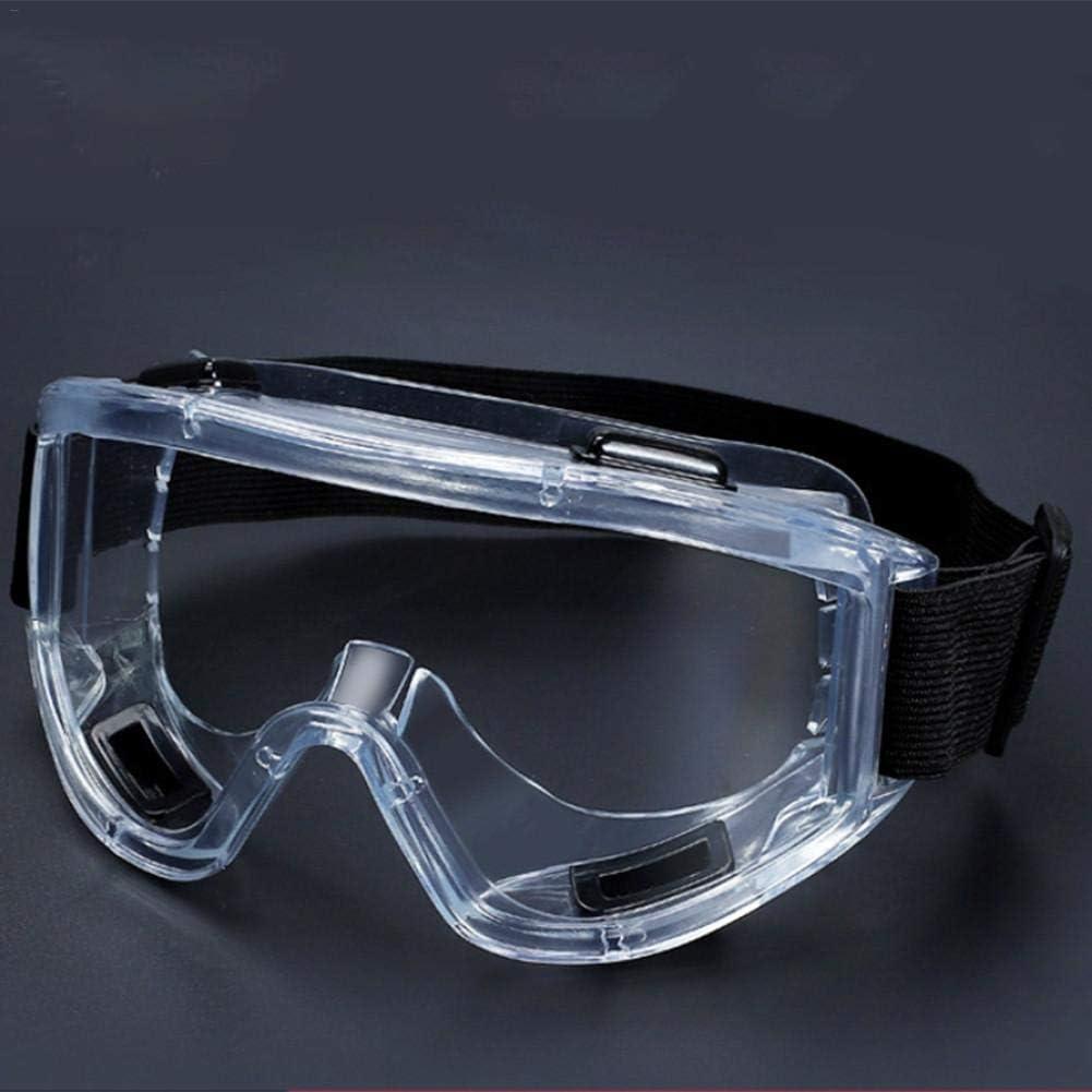 WUYANSE Gafas de Seguridad, Gafas Protectoras antivaho de Cuatro Cuentas Gafas Protectoras a Prueba de Viento Resistentes al Impacto para Evitar el Polvo Salpicaduras de Saliva