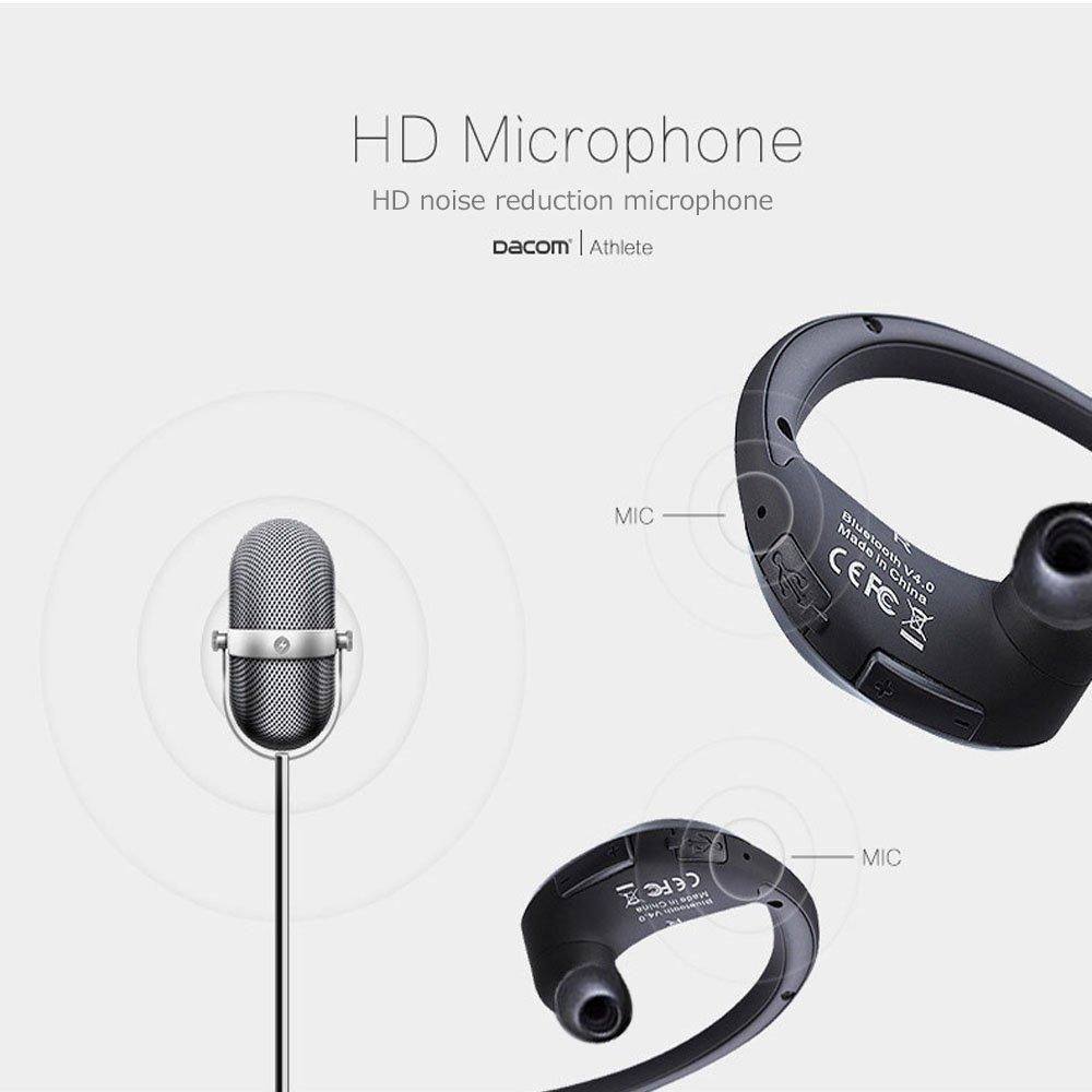 a36ba8453e9 Amazon.com  Dacom Athlete Waterproof Bluetooth headset Wireless sport  headphones stereo music earphones fone de ouvido with microphone   NFC  (Black)  Cell ...