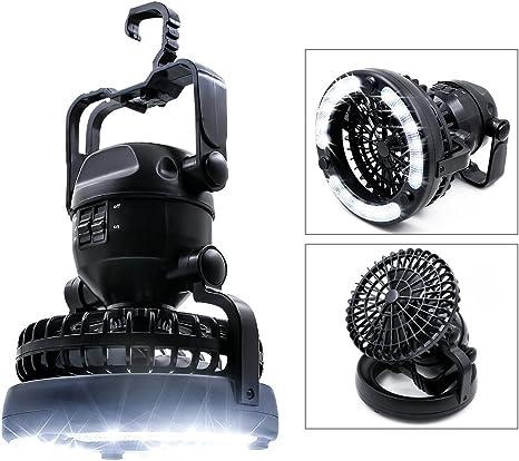 Ventilador De Techo con Luz, Portable Camping Light 2 En 1 LED, 18 LED Linterna para Senderismo Al Aire Libre, Camping, Pesca, Interrupciones Y Emergencias Tienda: Amazon.es: Deportes y aire libre