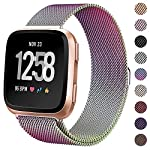 KIMILAR-Metal-Bands-Compatible-with-Fitbit-VersaVersa-Lite-Bands-Women-Men-Small-Large-Stainless-Steel-Replacement-Sport-Bracelet-Strap-Wristbands-Accessories-with-Magnet-Lock