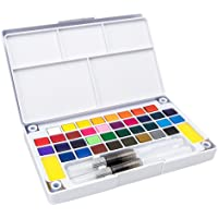 Homyl Kit de Aquarela, 24 cores + Pincéis