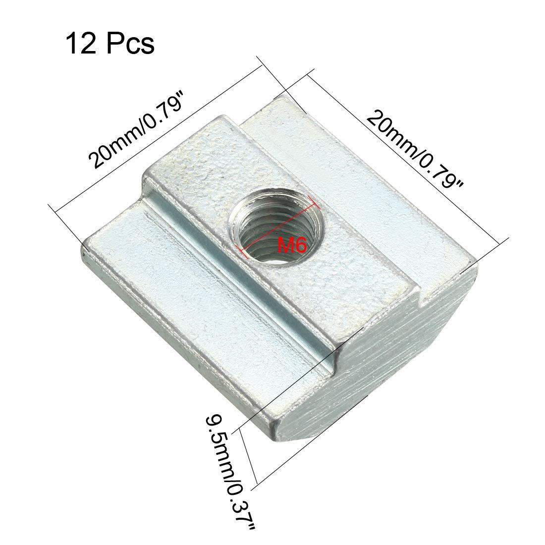 Sourcingmap T-Nut zum Einschieben von Aluminiumprofilen 12 St/ück
