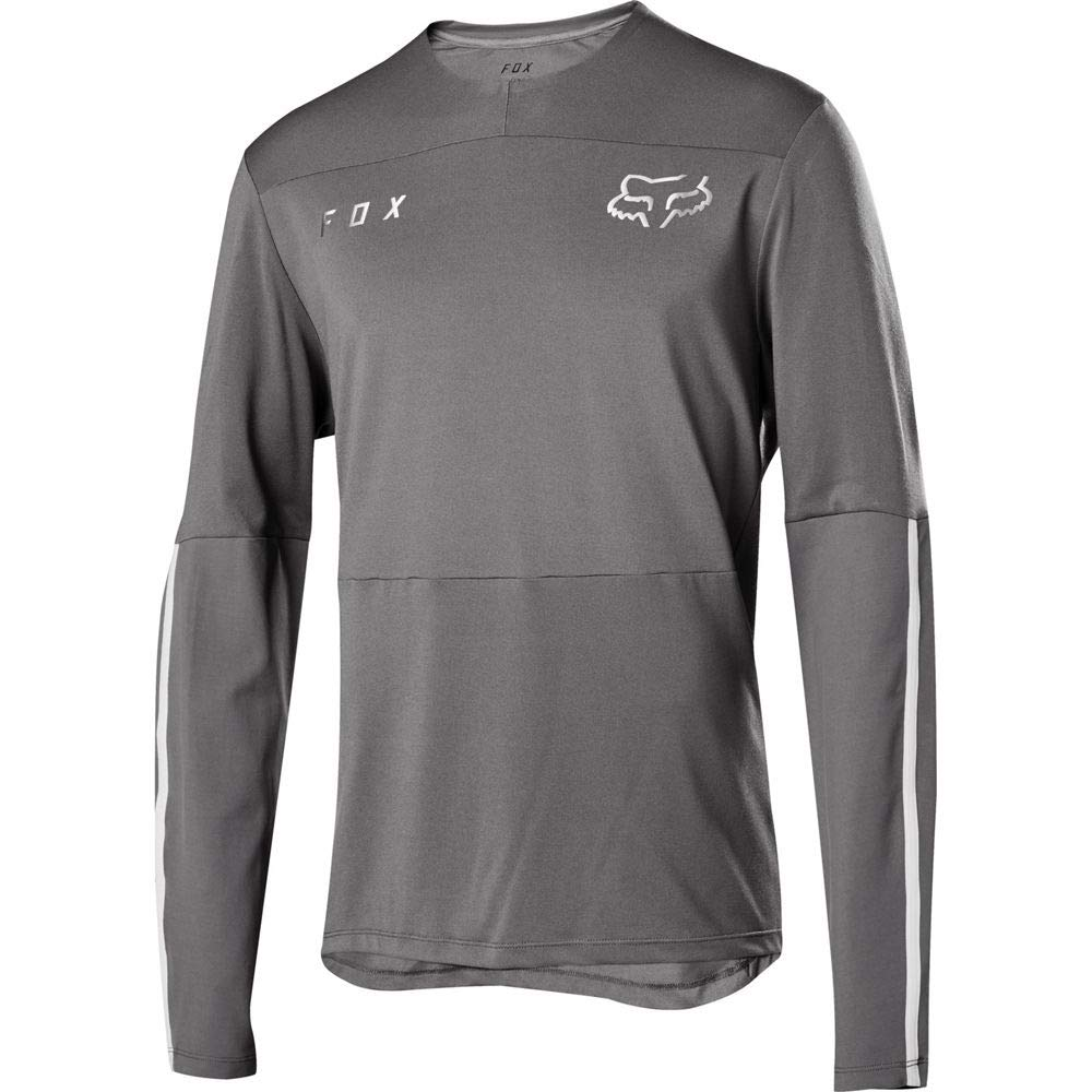 Fox Racing Defend Delta Long-Sleeve Jersey - Men's Grey Vintage, L