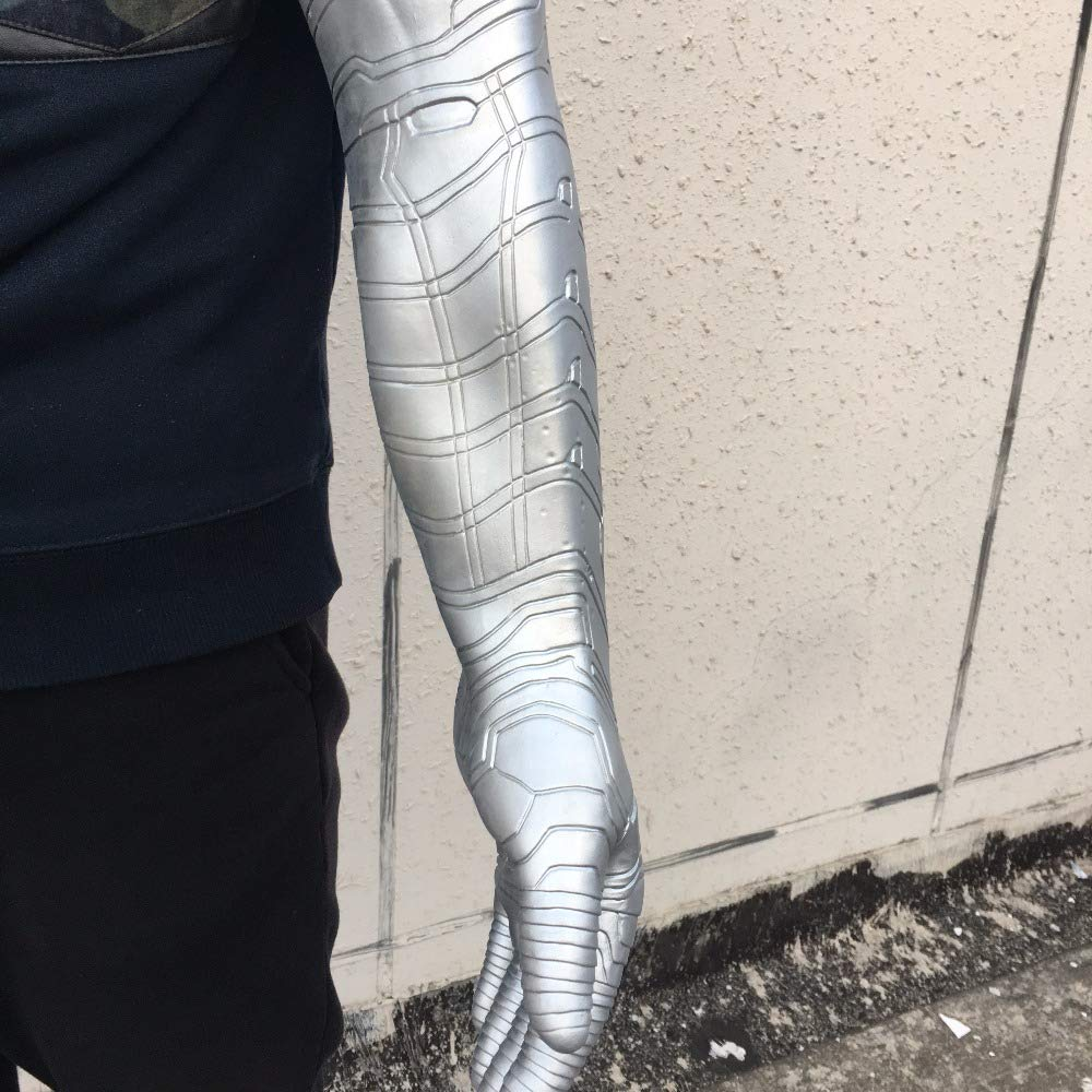 PONGONE Bucky Arm Winter Soldier Arm Halloween Cosplay Muscle Costume Props Latex Silver by PONGONE (Image #5)