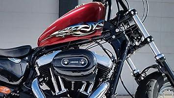 Motorcycle Decals Stickers Kit Yamaha Kawasaki Honda Harley Davidson Chrome a