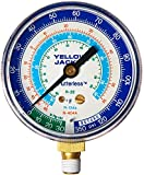 "Yellow Jacket 49016 2-1/2"" Blue Manifold Gauge, R404A/134A/22"