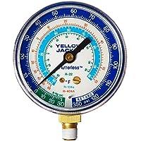 Yellow Jacket 49016 2-1/2 Blue Manifold Gauge, R404A/134A/22