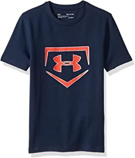 Under Armour Boys/' Two-Tone Small Logo L//S Shirt Dark Blue//Navy//Silver S