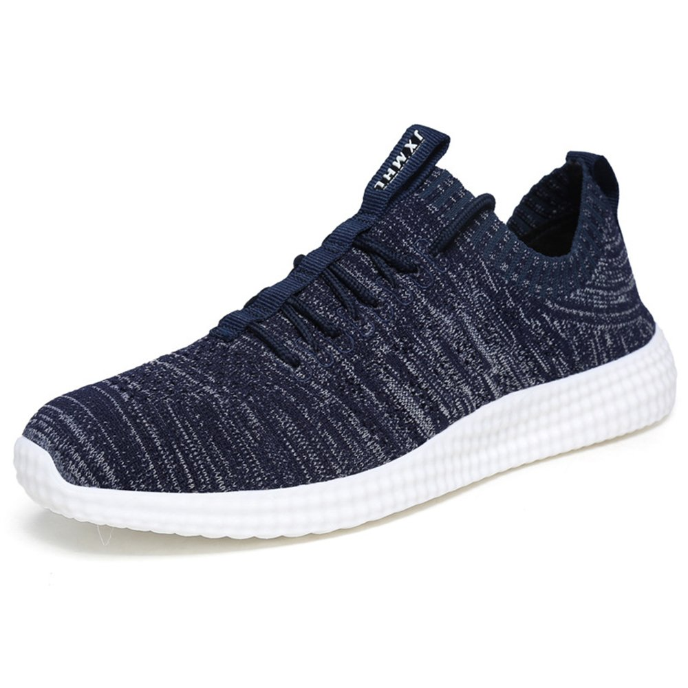 MUOU Schuhe Herren Sneaker Atmungsaktive Freizeitschuhe Lace-Up Mauml;nner Turnschuhe Mesh Wohnungen Laufschuhe  39 EU|Blau