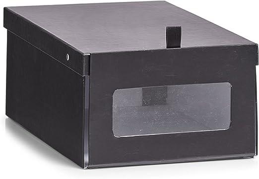 Zeller Zapatos Caja de Caja, cartón, Papel, Negro, 23 x 35 x 14 cm ...