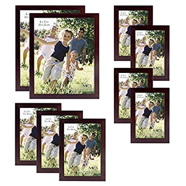 MCS 9 Piece Gallery Wood Frame Set, Espresso