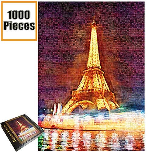 (Jigsaw Puzzles 1000 Pieces Vincent Van Gogh Artwork Art for Teen Adult Grown Up Puzzles Large Size Toy Educational Games Gift Jigsaw Puzzle Jigsaw Puzzle 1000 PCS (Eiffel Tower) )