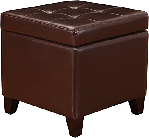Deal of the week: Edeco Square Storage Ottoman Tufted Faux Leather Cube Footrest