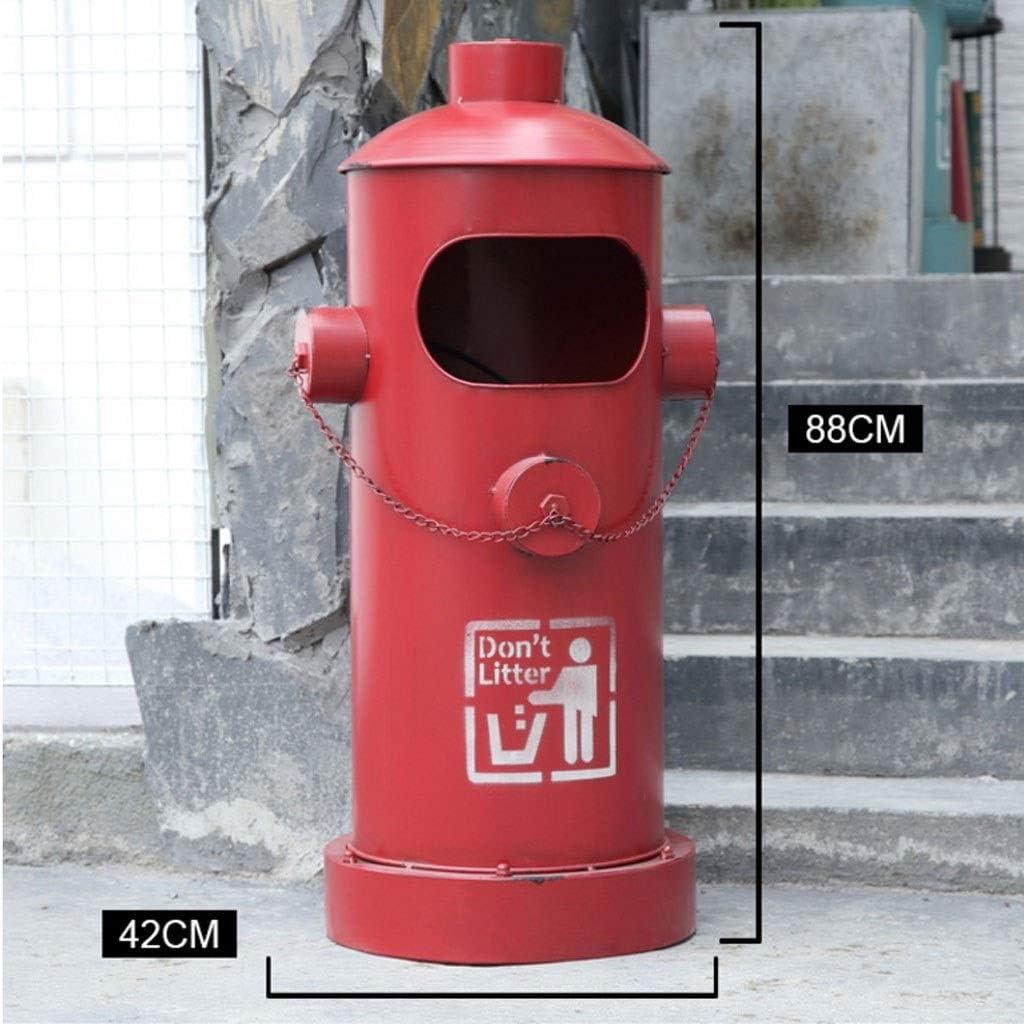 Color : Green M/ülleimer M/ülltrennung M/ülltrennsysteme Outdoor Retro Industrial Style Schmiedeeisen Hydranten Form M/ülleimer B/üro M/ülleimer Abfallbeh/älter M/ülleimer Abfalleimer
