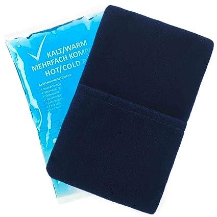 10 piezas compresa fría y caliente de 7,5 cm x 13 cm + 5 fundas no tejidas de primera calidad Compresas múltiples Microondas Reusable Coolpack ...