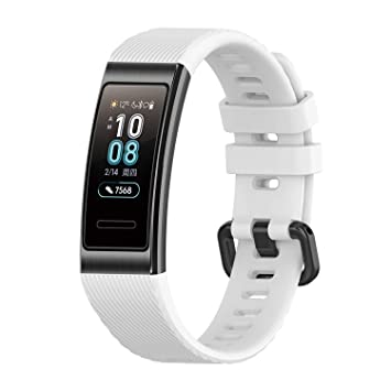 XIHAMA Strap Compatible for Huawei band 3 / Huawei band 3 pro, Soft Silicone Replacement Band Wristband (white)