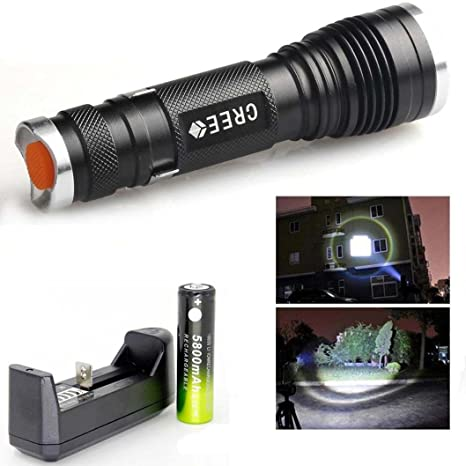 SKYWOLF Tactical Flashlight Zoomable Torch Lamp 20000 LM 3-Mode Camping Protable