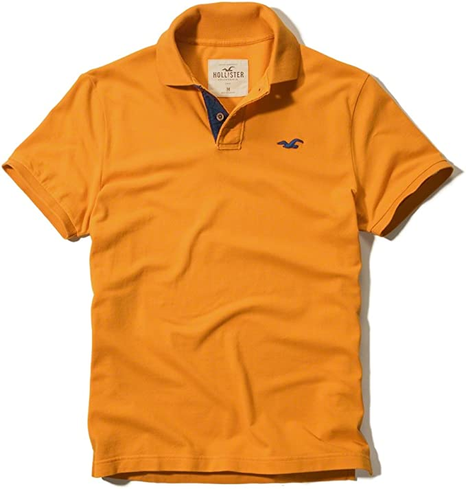 Hollister - Polo de manga corta en color naranja naranja naranja ...