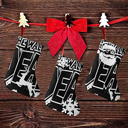 クリスマスの日の靴下 (ソックス3個)クリスマスデコレーションソックス 生ける屍Walking Dead クリスマス、ハロウィン 家庭用、ショッピングモール用、お祝いの雰囲気を加える 人気を高める、販売、プロモーション、年次式
