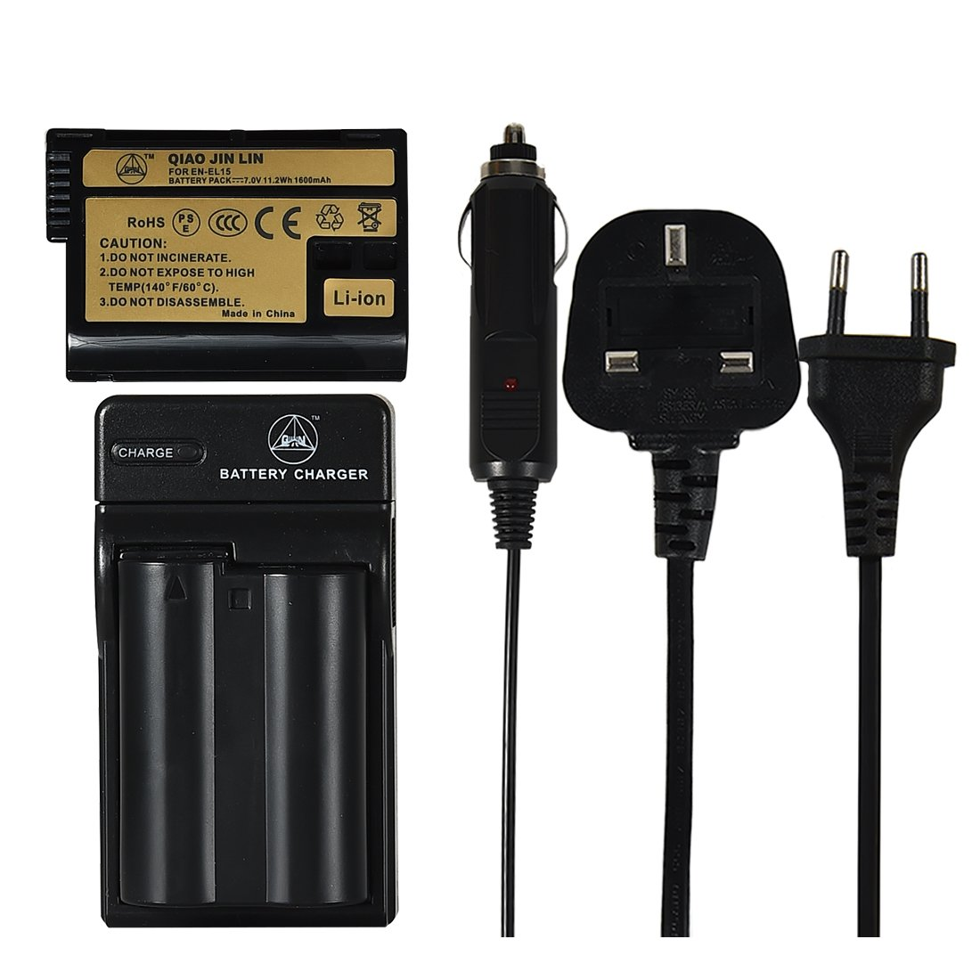 QIAOJINLIN 2 Pack batería y AC Adaptor Cargador Compatible para ...