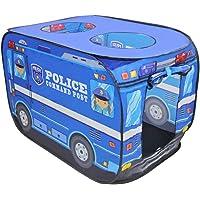 deAO Ihopfällbart polisbils leksakstält –Barn leksakstält för inomhus och utomhuslek och en utmärkt gåva för barn