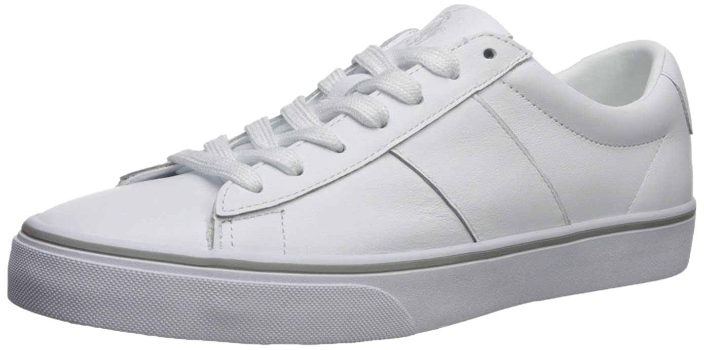 Ralph Lauren Herren Sayer Leder Leder Leder Weiß Schuhe 41.5 EU 846271