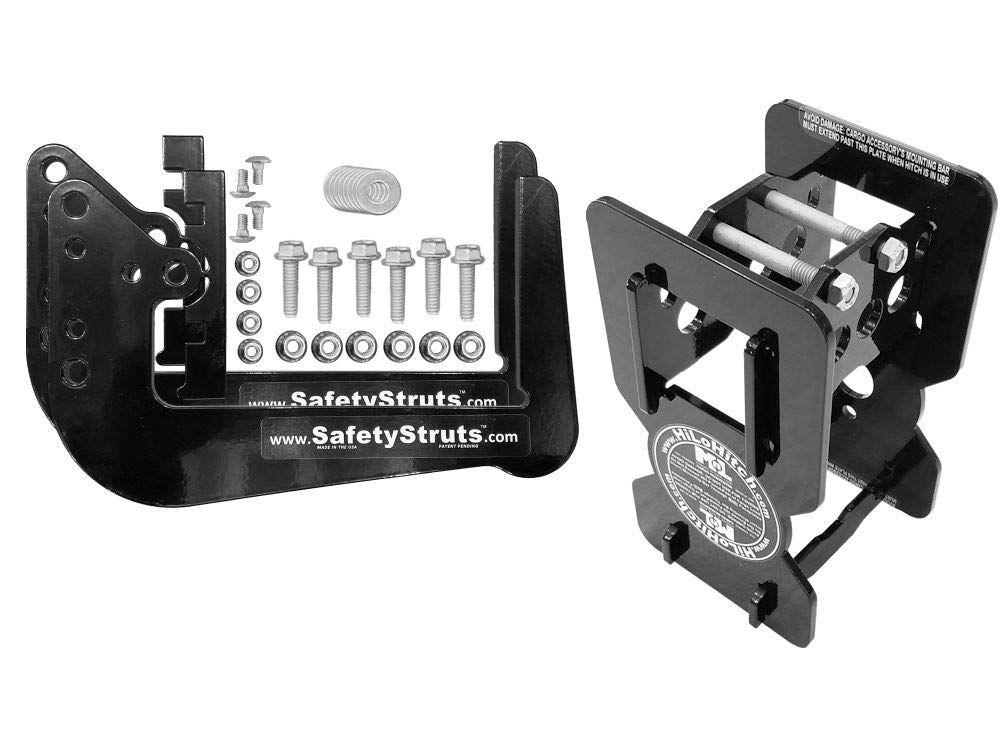 Mount-n-Lock Bundle (2 Items): 1 Set SafetyStruts (TM) and 1 HiLoHitch 4'' Bumper-Mounted Hitch (TM) (1SSN, 1HLX)
