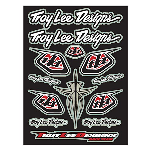 Tld Decal (NEW TROY LEE DESIGNS RACE TEAM SHEET DECAL/STICKER, BLACK/RED, 10