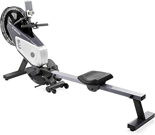 MaxKare Rowing Machine Air Rower Dual Belt Dynamic Air Resistance