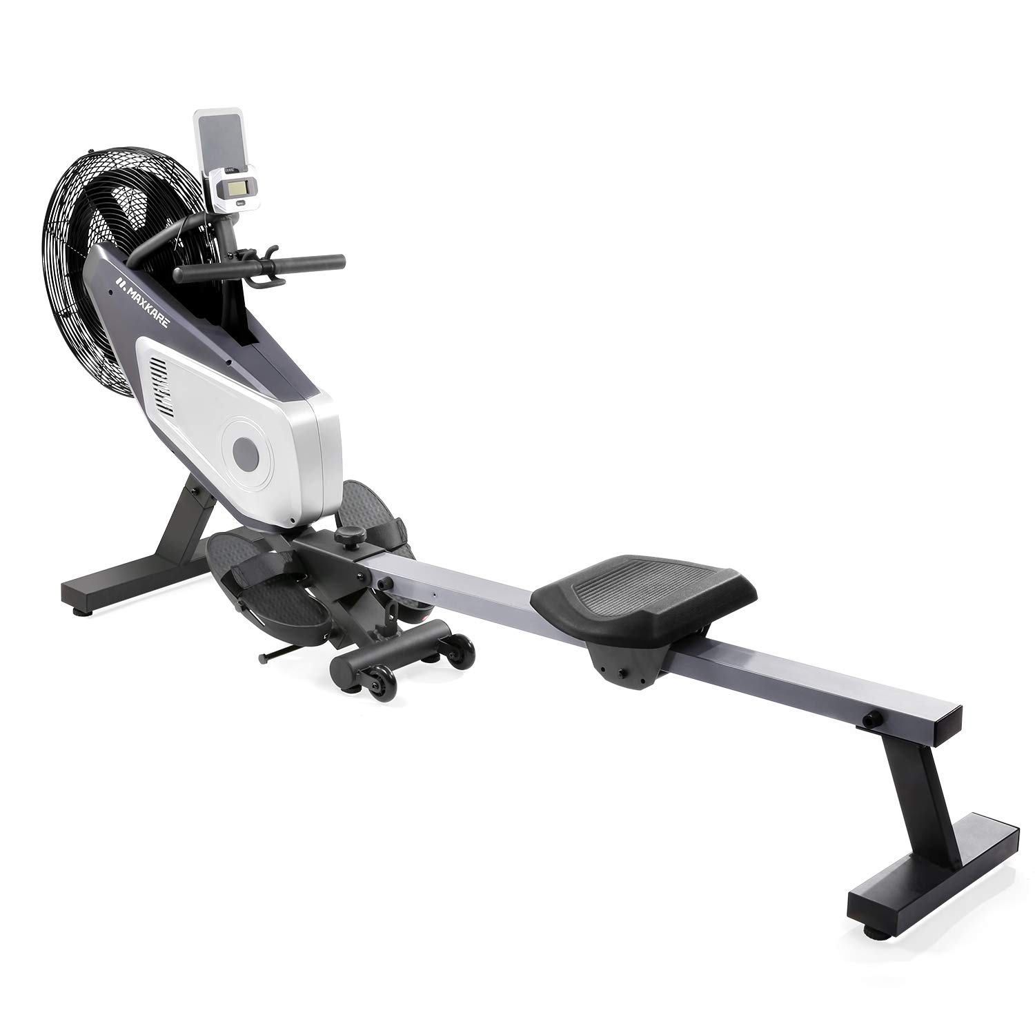 MaxKare Air Rower, Rowing Machine, Dual Belt Dynamic Air Resistance with LCD Monitor for Home Use. by MaxKare