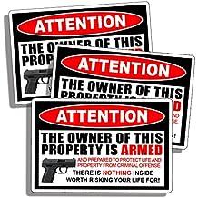 2nd Amendment Sticker Handgun Pistol Warning Decal Gun Second 2A Support our Rights