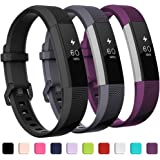 GEAK Replacement Bands for Fitbit Alta/Alta HR/Ace 3 Pack, Classic Replacement Bands with Secure Metal Buckle for Fitbit Alta HR/Fitbit Alta/Fitbit Ace, Women Men Kids