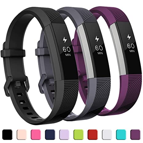GEAK Replacement Bands for Fitbit Alta/Alta HR/Ace 3 Pack, Classic  Replacement Bands with Secure Metal Buckle for Fitbit Alta HR/Fitbit  Alta/Fitbit