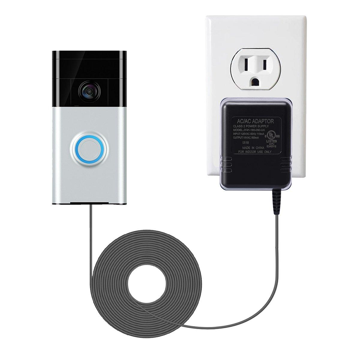 LANMU Power Adapter for Ring Video Doorbell,Power Supply for Ring Video Doorbell Pro,Ring Video Doorbell Pro 2,Nest Hello Video Doorbell and Zmodo Smart Greet Wi-Fi Video Doorbell