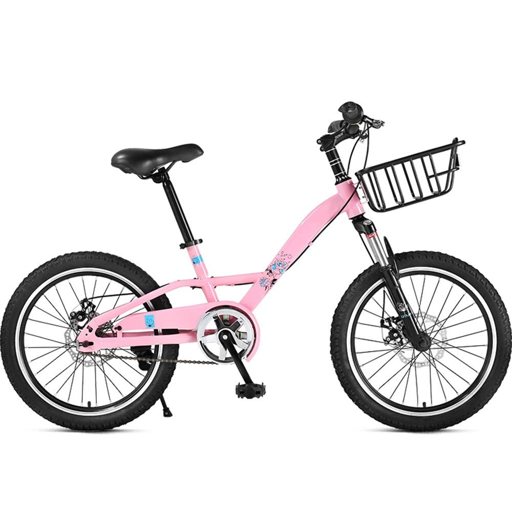 Axdwfd 子ども用自転車 キッズバイク子供用自転車子供用自転車女の子と男の子フリースタイル自転車スポーツバイク20インチ用自転車調節可能シート  Pink B07PGHLTDK