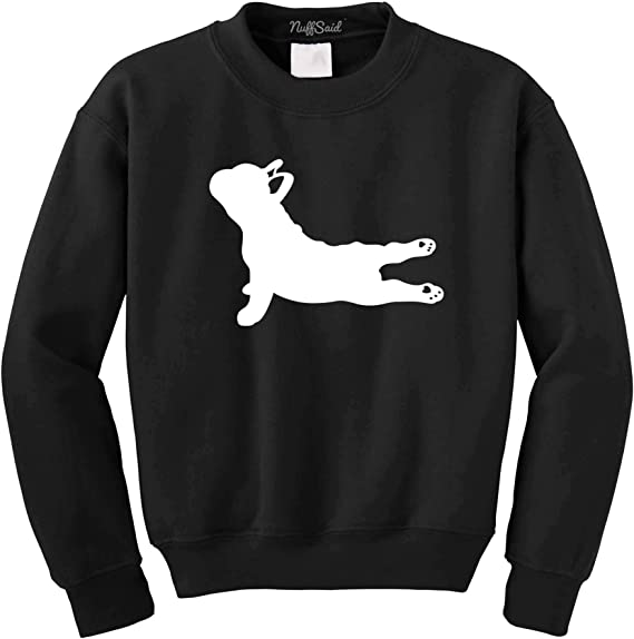 NuffSaid Yoga French Bulldog - Crewneck Sweatshirt Pullover - Unisex Crew - Namaste Dog