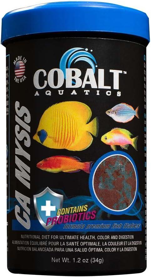 Cobalt Aquatics Mysis Shrimp Flakes 1.2 oz, White/Black (23028N)