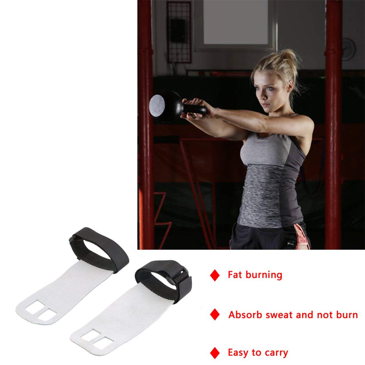 Detectorcatty Crossfit Grips Leather Palm Protectors Hand Guards Weight Lifting Barbell Grips Gym Glove Pull up Lift