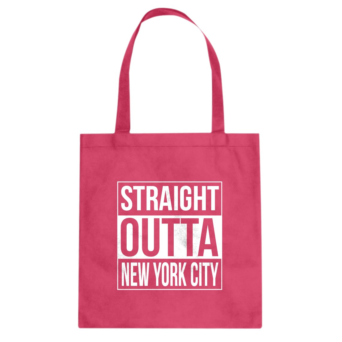 Indica Plateau Straight Outta New York City Cotton Canvas Tote Bag