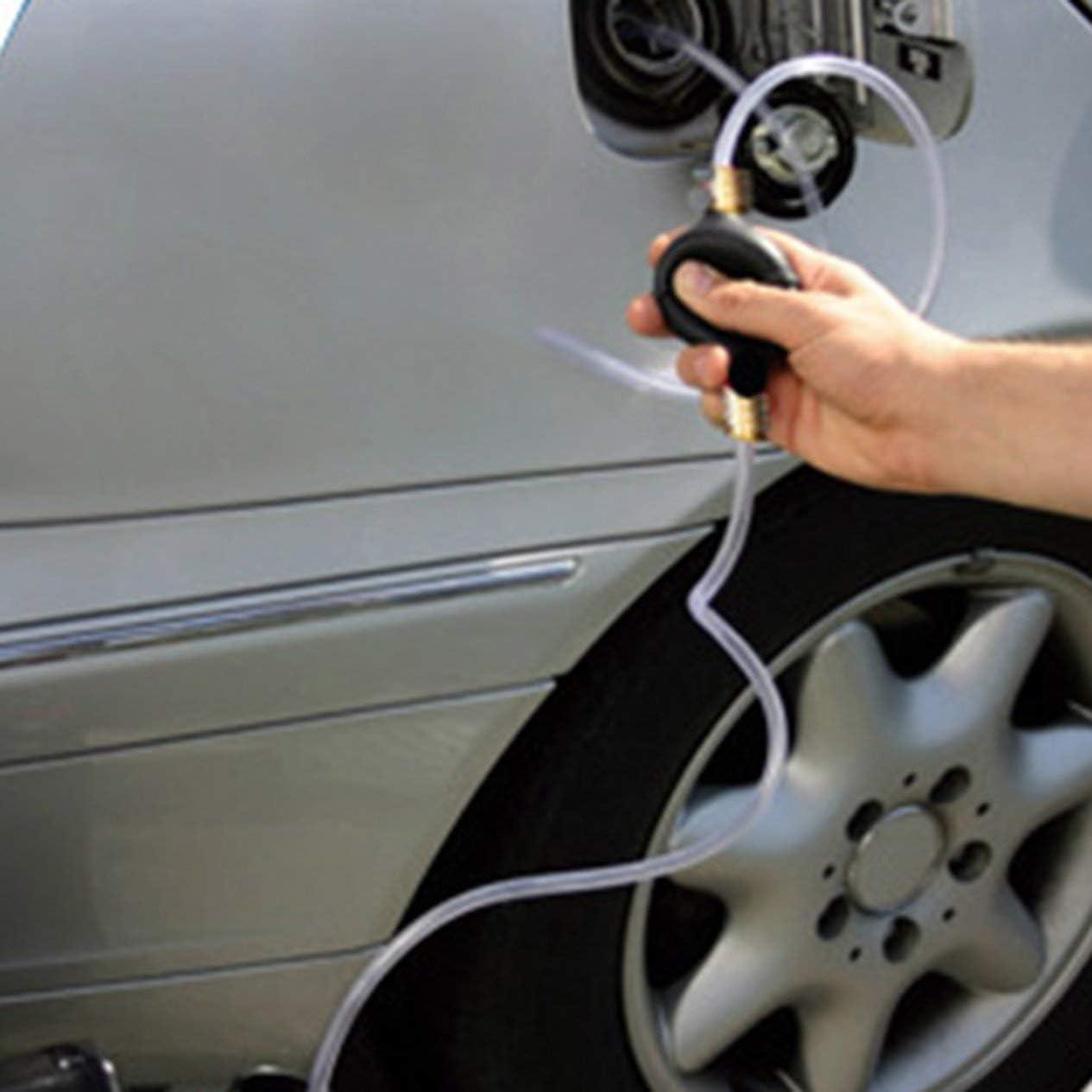 Auto Auto Siphon Siphon Schlauch Schlauchpumpe f/ür Fluid Wasser Gas Benzin Fl/üssigkeitstransfer Tragbare manuelle Handpumpe Werkzeuge Klar