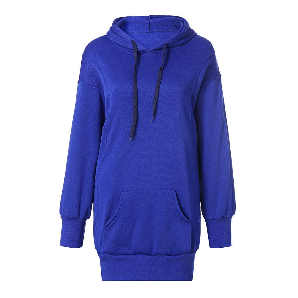 Womens Hoodie Girls Sweatshirt Jumper Casual Simple Style Pullover Tops Blouse