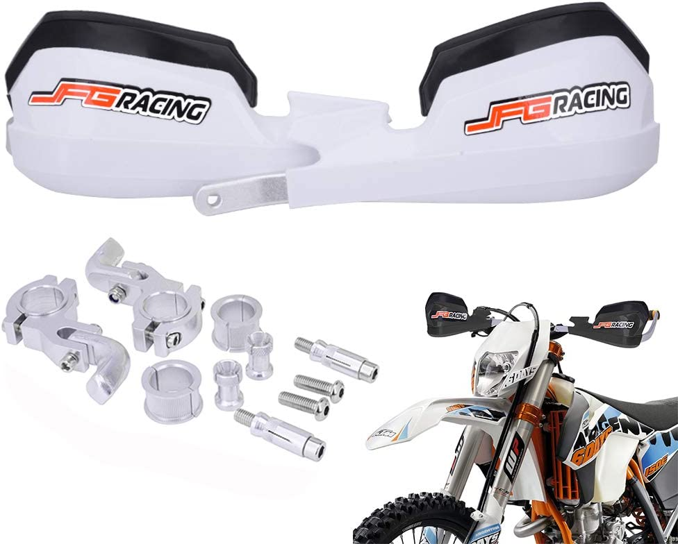 Handschützer Motorrad Handschützer Universal Für 7 8 Und 1 1 8 Lenker Für Dirt Bike Honda Yamaha Kawasaki Suzuki Motocross Enduro Supermoto Weiß Auto