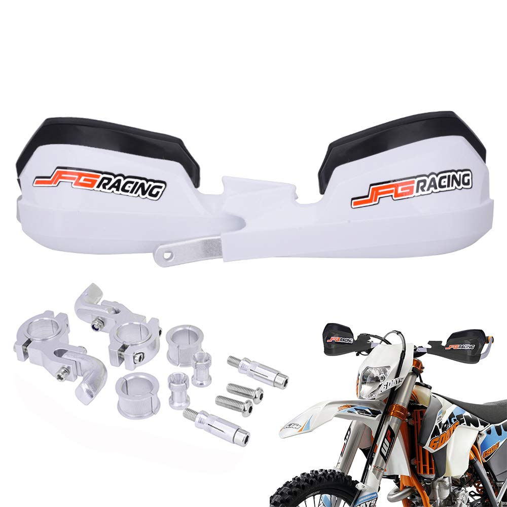 pour Dirt Bike K.T.M Honda Yamaha Kawasaki Suzuki Motocross Enduro Supermoto JFGRACING Prot/ège-Mains de Moto universels pour Guidon 7//8 et 1//8